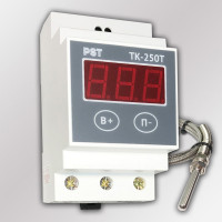 """Терморегулятор ТК-250Т с таймером, звуком и датчиком t° тип """"К"""" (+250°C, 40А)"""